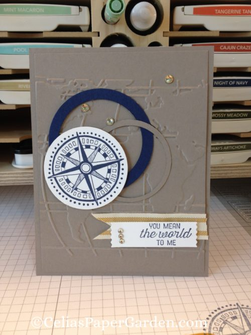 Going Global Masculine Card Idea