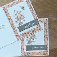 Fixer Upper Handmade Card Idea with Crackle Background